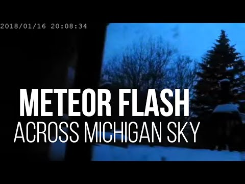 Meteor flash across Michigan sky January 16, 2018