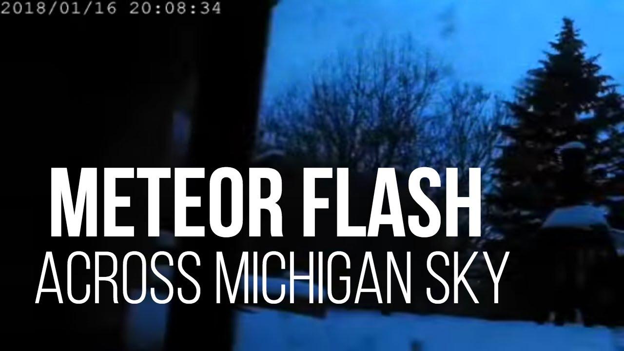 Brilliant' meteor fireball seen flashing across Michigan skies  Did