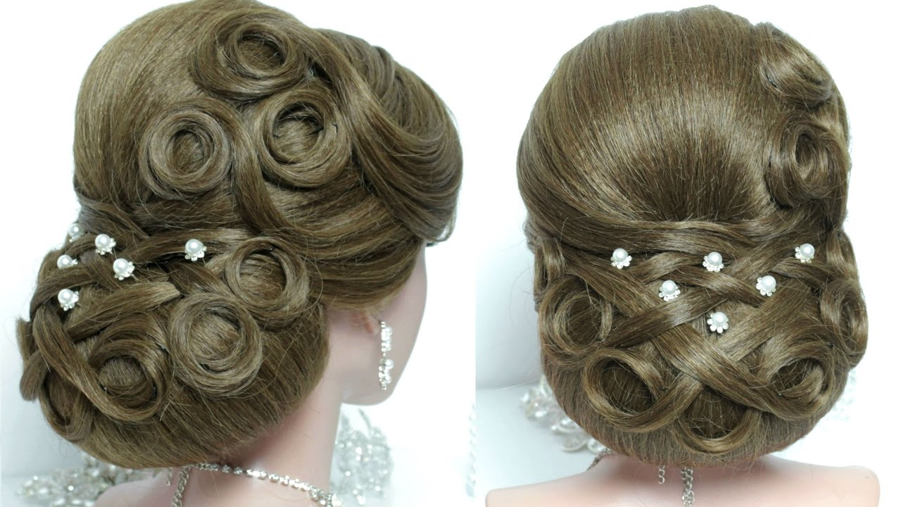 Bridal Updo Wedding Hairstyle For Long Hair Tutorial Youtube