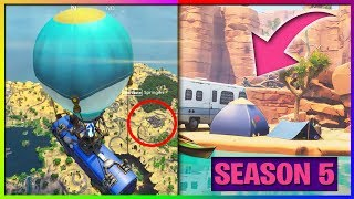 FORTNITE SEASON 5 LEAKED MAP GAMEPLAY (DESERT MAP, WESTERN, DINOSAUR)