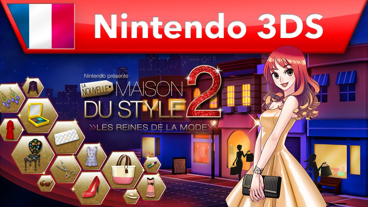 la nouvelle maison du style 2 les reines de la mode bande annonce nintendo 3ds youtube. Black Bedroom Furniture Sets. Home Design Ideas
