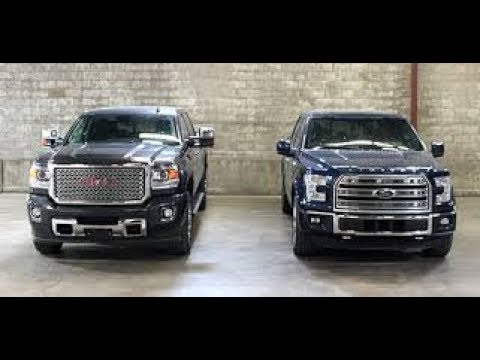 2017 Gmc Sierra 1500 Denali Vs Ford F 150 Platinum >> 2017 Ford F 150 Vs Gmc Sierra Denali 2500 Hd Design Driving Youtube
