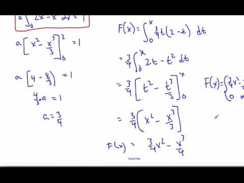 IB Math HL - 15.02.1 Cumulative Distribution Function Continuous Random Variable