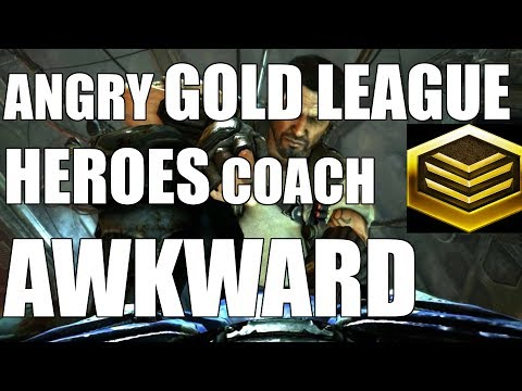 Angry GOLD LEAGUE HEROES Coach | Socially Awkward Bunkers (Gold Terran)