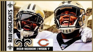 Saints vs Bears Raw On-Field Highlights | 2019 NFL Week 7 | New Orleans Saints Football