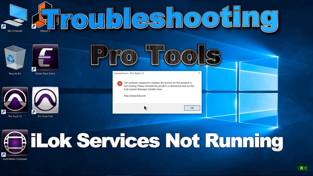 iLok Services Not Running - Troubleshooting (Pro Tools)
