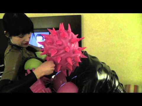 Domina Elle balloon boob inflation