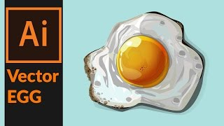 How to draw a vector fried egg in Adobe illustrator