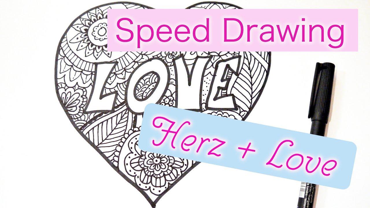 Mandala Zeichnen | Herz + Love | Speed Drawing - YouTube