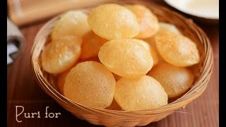 Puri for chaat items, crispy mini puri for chaat