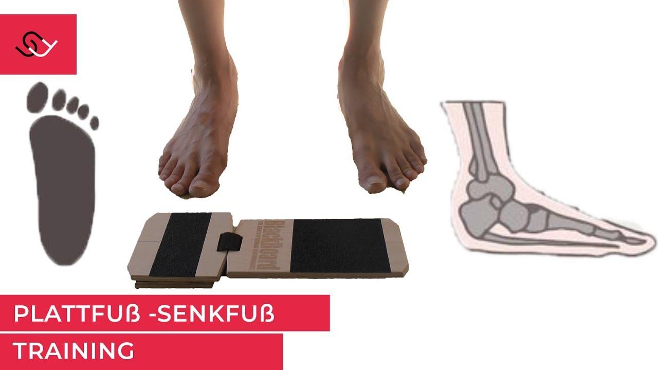 Plattfuß bzw. Knick Senk Spreizfuß Physio zeigt wirkungsvolle Blackboard Übungen