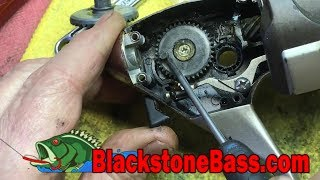 Spinning Reel Repair Spool Will Not Go Up and Down Oscillating Gear