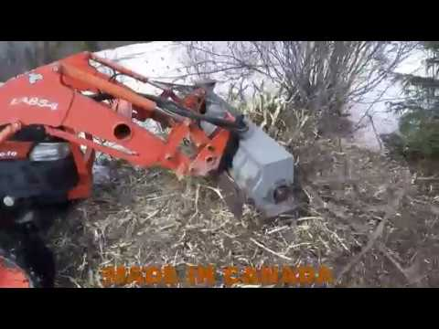 FORAX Heavy Duty Mulching Attachment on 50 hp Tractor