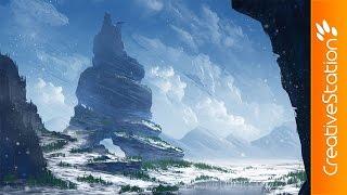 Winter - Speed Painting (#Photoshop) | CreativeStation
