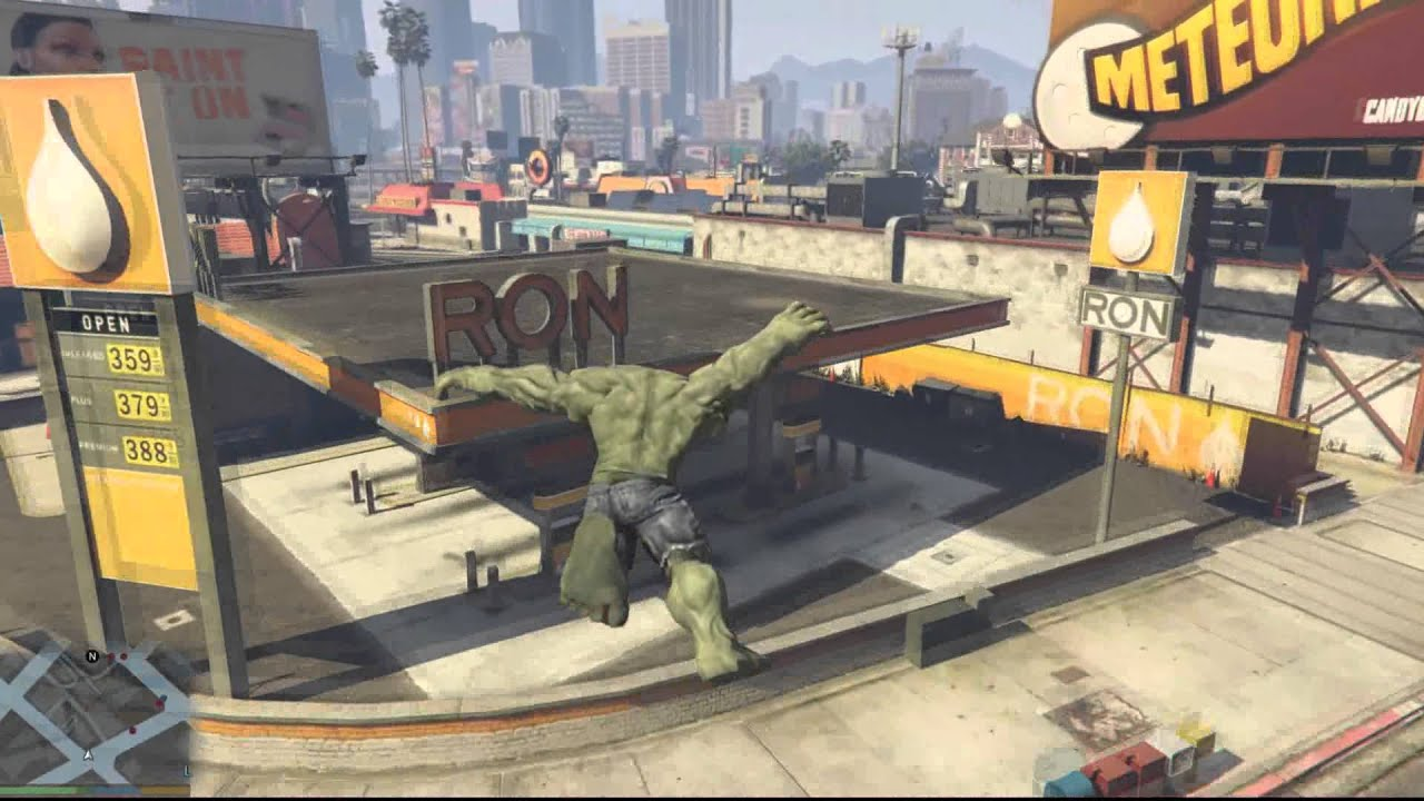 Incredible Hulk Grand Theft Auto 5 mod released • Eurogamer net