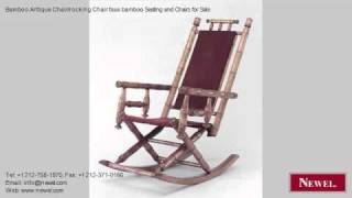 Bamboo Antique Chair/rocking Chair Faux Bamboo Seating