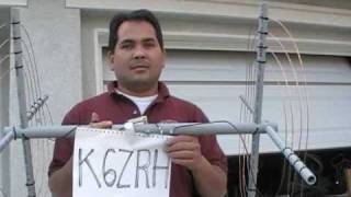 K6ZRH- TAK-tenna antenna demo (20M shortest HF dipole spiral antenna)
