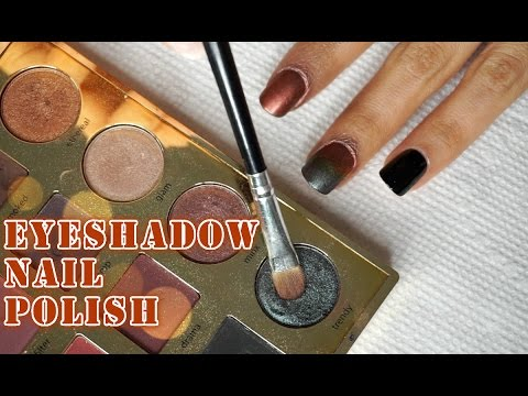 how to make nail polish with eyeshadow
