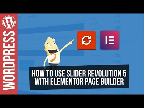 Using Slider Revolution 5 with Elementor Wordpress Page Builder
