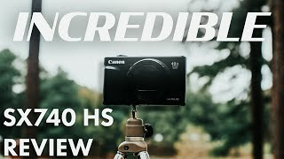 BEST ENTRY LEVEL VLOG CAMERA 2021?! (Canon Powershot SX740 HS Review)