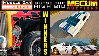 Guess The High Bid Contest Winners Muscle Car Of The Week Episode 289