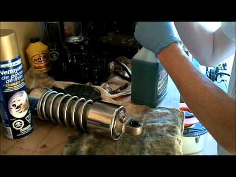 Refilling Rear Motorcycle Shocks