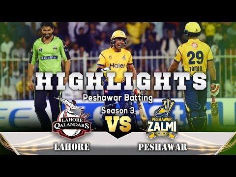 Lahore Qalandars Vs Peshawar Zalmi | Peshawar Zalmi Batting Highlights | HBL PSL
