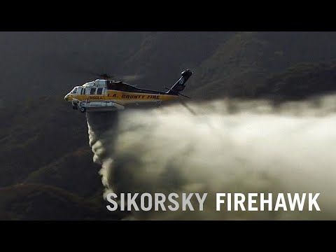 Sikorsky Firehawk Helicopter Fights Flames in Los Angeles County, California – AINtv