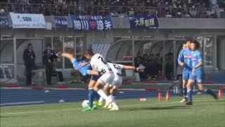 【公式】Pick upプレー動画:ジェフェルソン バイアーノ(水戸)が力強いドリブルでサイドを切り崩してゴール前まで侵入!