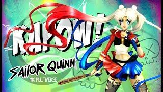 Sailor Moon & Harley Quinn Suicide Squad - Unpainted Resin Model Figurine
