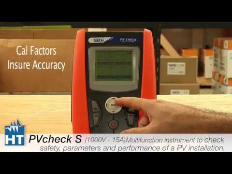 How to test a PV installation using the new HT PVcheck s