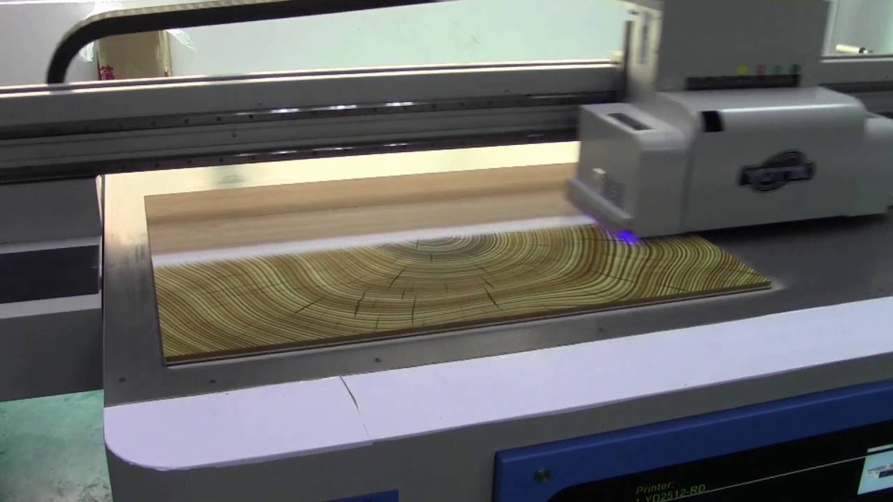 Ricoh Industrial Led Uv Flatbed Printer Print On Wood