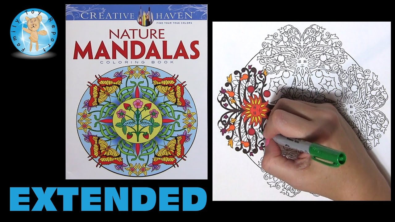 Creative Haven Nature Mandalas By Marty Noble Adult Coloring Book