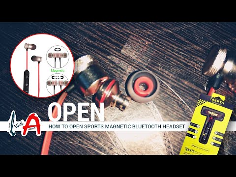 How to open sports magnetic bluetooth headset