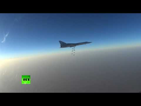 Russian bombers target ISIS positions near Palmyra