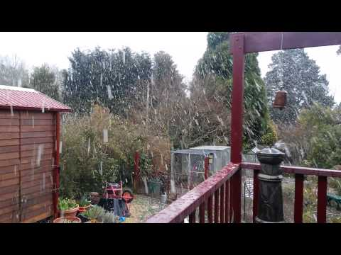 Blackheath Snow Showers 11:15am 12-8-15 - Lasted about 20 Minutes.