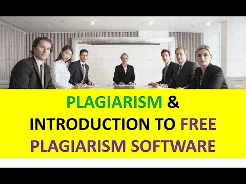 PLAGIARISM & FREE SOFTWARE to CHECK it(in Hindi)
