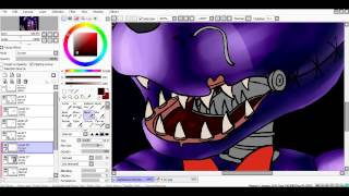 SpeedPaint Nightmare Bonnie Five Nights at Freddy s 4
