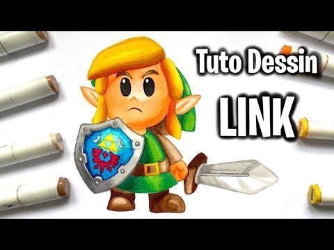 Tutoriel Comment Dessiner Link Zelda Awakening Youtube
