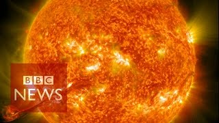 Nasa Captures Incredible 4k Images Of The Sun   Bbc News