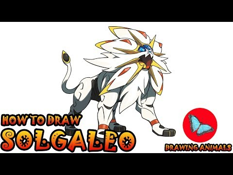 How To Draw Solgaleo Pokemon | Coloring and Drawing For Kids