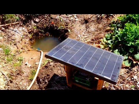 Watering With Solar Power and Hand Dug Well