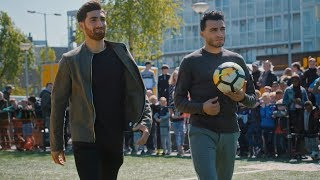 Touzani's WK warming up met Alireza Jahanbakhsh