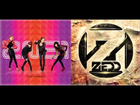 Mash up 2NE1 vs Zedd - Beauty And A Beat Can't Hold Us Down