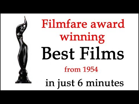 Filmfare Best Film | Movie Awards List in 6 Minutes 1954 to 2018 | Bollywood Award famously varrier