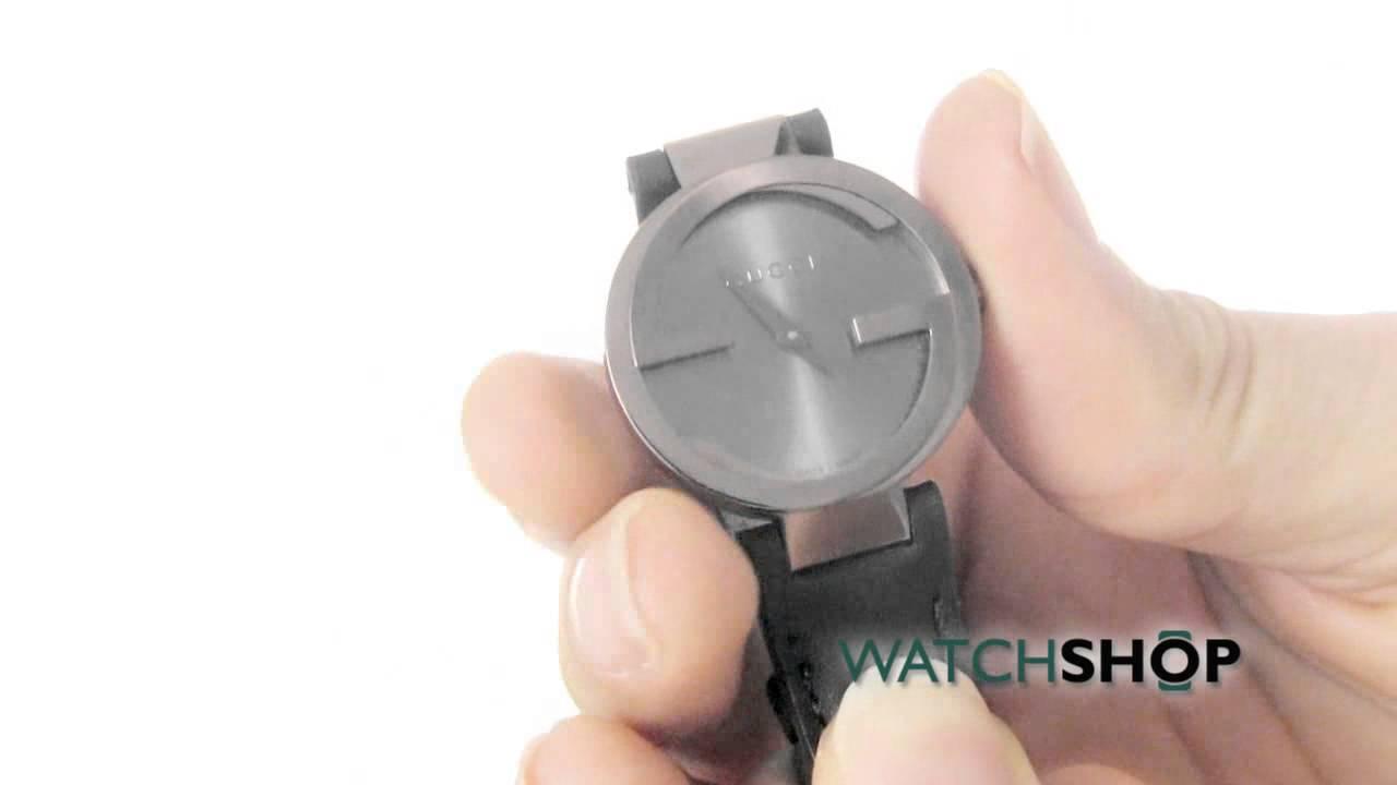 019704e0535 Gucci Ladies  Interlocking G Watch (YA133504) - YouTube