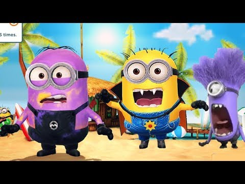 Despicable Me 3 Minion Rush - Monster Minions Beach Vacation Minions Mini Movie