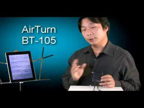 Hands Free Page Turns for iPad Musicians with the AirTurn BT-105 Bluetooth Page Turner
