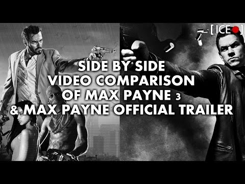 Side By Side Comparison Of Max Payne 3 & Max Payne Official Trailer [HD]