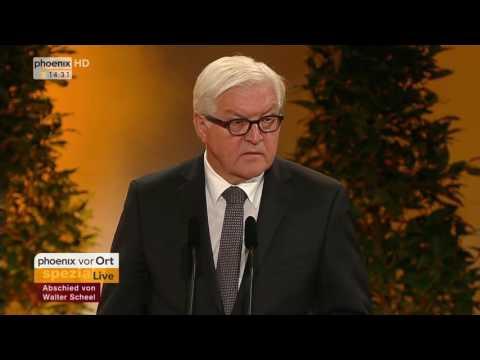 Staatstrauerakt für Walter Scheel: Rede von Frank-Walter Steinmeier am 07.09.2016